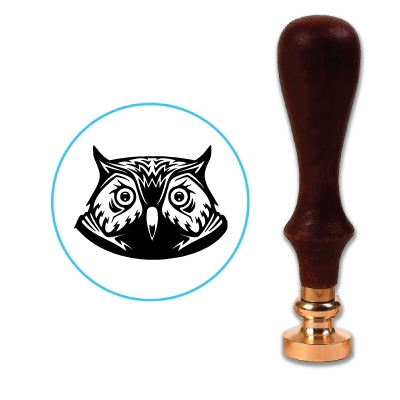 Owl Head Wax Seal Stamp # 3502