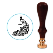 Royal Peacock 2 Wax Seal Stamp # 3506