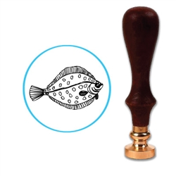 Fish 3 Wax Seal Stamp # 3603