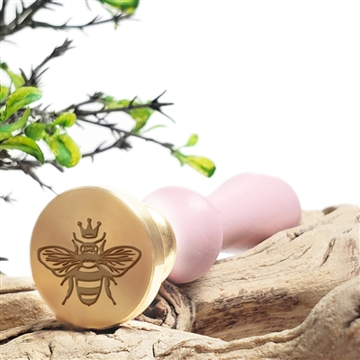 Bee With Crown Wax Seal Stamp # 3701