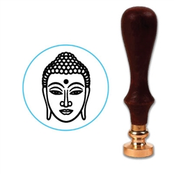 Buddha Face Wax Seal Stamp # 3853