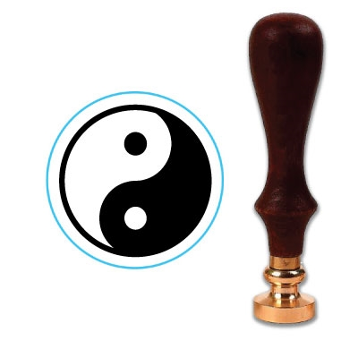 Classic Ying Yang Wax Seal Stamp # 3861