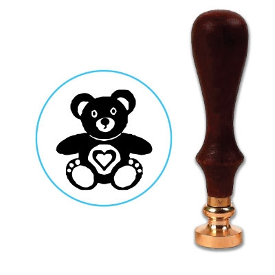 Teddy Bear Wax Seal Stamp # 3912