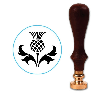 Scottish Thistle 3 Wax Seal Stamp # 3953