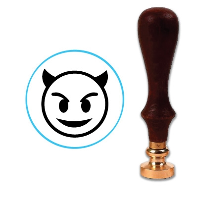 Devil Emoji Wax Seal Stamp # 4054