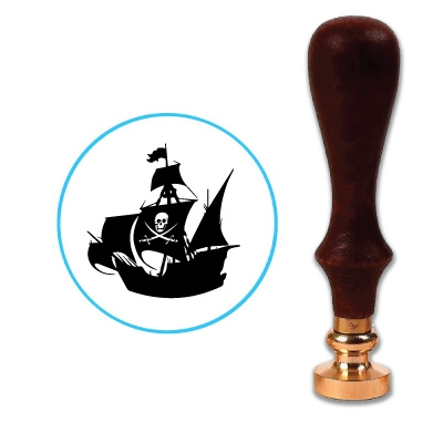 Pirate Ship Wax Seal Stamp # 4105