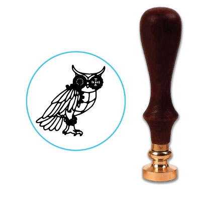 Steampunk Wax Seal Stamp # 4209 Owl