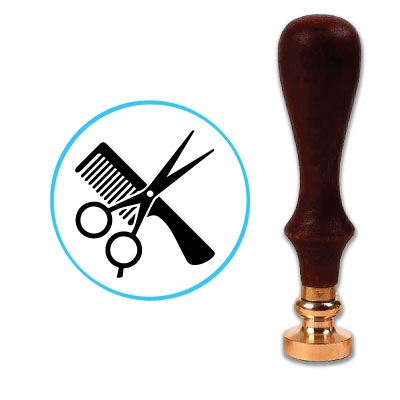 Hairdresser Wax Seal Stamp # 4403