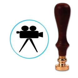 Movie - TV Camera Wax Seal Stamp # 4405