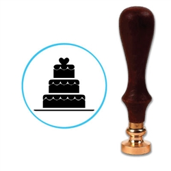 Wedding Cake 2 Wax Seal Stamp # 4853