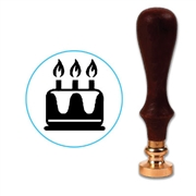 Customizable Birthday Cake Wax Seal Stamp # 5002