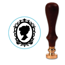Cameo Lady  Wax Seal Stamp # 572-6400 -25mm Die