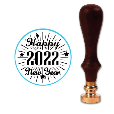 Happy 2020 Wax Seal Stamp # 901