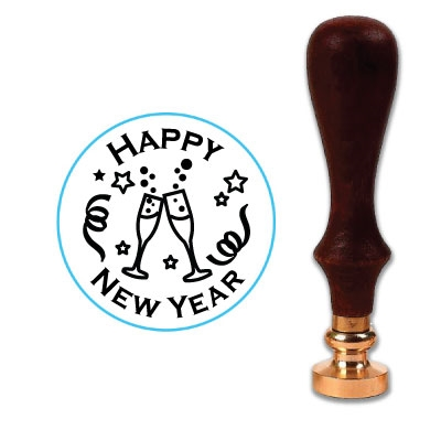 Happy New Year - Cheers Wax Seal Stamp # 902
