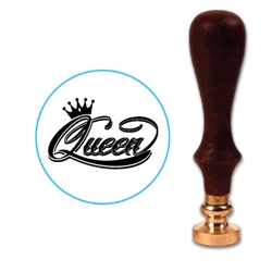 Queen Script With Crown Wax Seal Stamp # 965