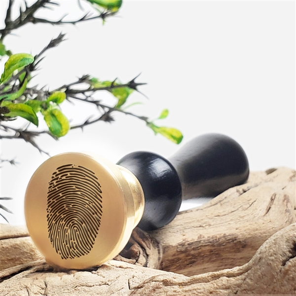"Fingerprint  Custom Wax Seal Stamp-1 1/8"" die"
