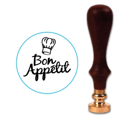Bon Appétit Wax Seal Stamp # D401