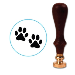 Paw Prints Wax Seal Stamp # D518