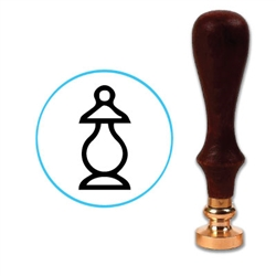 Chess Bishop Wax Seal Stamp # D723