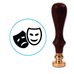 Comedy - Drama Masks Wax Seal Stamp # D729