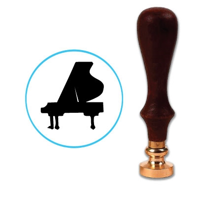 Grand Piano Wax Seal Stamp # D796