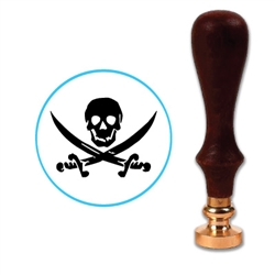 Pirate Skull and Swords Wax Seal Stamp # D820