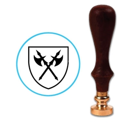 Crossed Axes Wax Seal Stamp # H113
