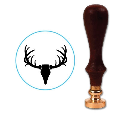 Deer Antlers & Skull Wax Seal Stamp # R1023A