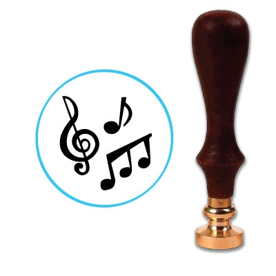Music Notes Wax Seal Stamp # R1024