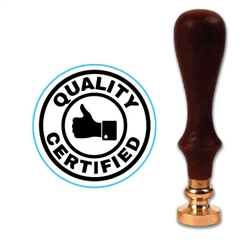 "Quality Certified Wax Seal Stamp # R1097-1"" Die"