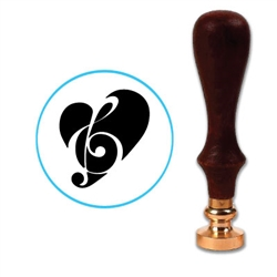 Music In Heart Wax Seal Stamp # R544
