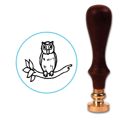 Owl Wax Seal Stamp # R547