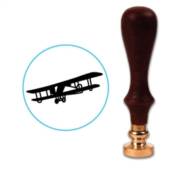 Antique Airplane Wax Seal Stamp # R548