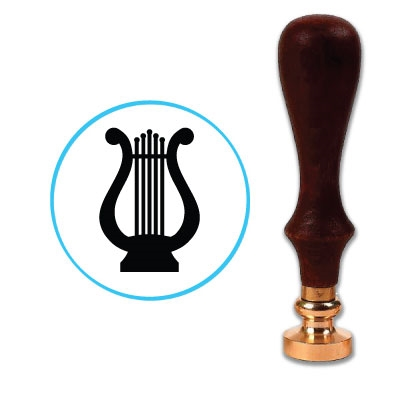 Lyre Wax Seal Stamp # R764