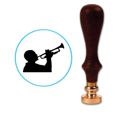 Man Playing Trumpet Wax Seal Stamp # R800