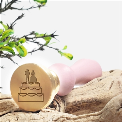 Wedding Cake Bride Groom Wax Seal Stamp - #R891