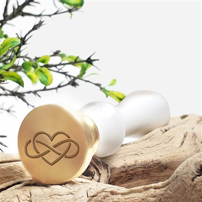 Wedding Infinity Heart Wax Seal Stamp - #R893CD