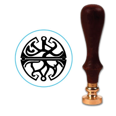 Celtic Balance Wax Seal Stamp # R917