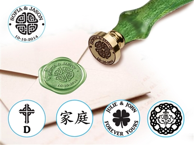 Celtic & Asian Wax Seal Stamp with Wood Handle-choice of design