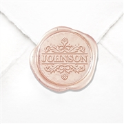 "Hand Pressed Custom Wax Seals 50PK- 1 1/4"" - Times Roman Name with Fleur"