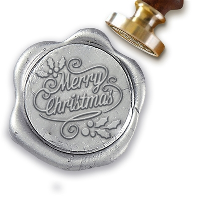 "Merry Christmas Script Wax Seal Stamp # D936-1"" Die"