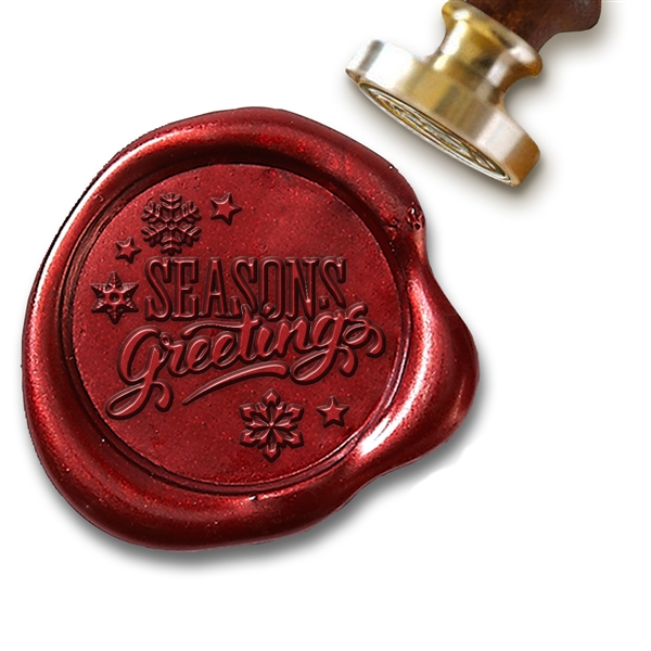 "Seasons Greetings Script Wax Seal Stamp # D937-1"" Die"
