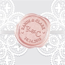 "Adhesive Wedding Wax Seals Stickers 50PK-Handpressed 1 ¼"" #224"