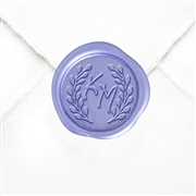 "Hand Pressed Custom Wax Seals 50PK- 1 1/4"" - Ellie Ann with Berry Wreath"