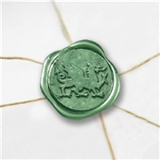 Welsh Dragon Wax Seal Stickers-50PK- 1""