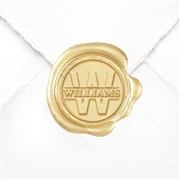 "Hand Pressed Custom Wax Seals 50PK- 1 1/4"" - Times Roman Name with Initial"