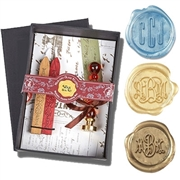"Custom Wax Seal Stamp - Monogram 3-Initials on 3/4"" die-handle and die options"