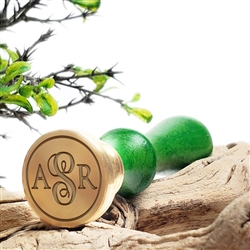 "Custom Personalized Wax Seal Stamp Made in USA 3-Initial Monogram on  1"" Die- #1181"