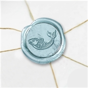 Fish 2 Wax Seal Stickers-50 Stickers-50PK- 1""
