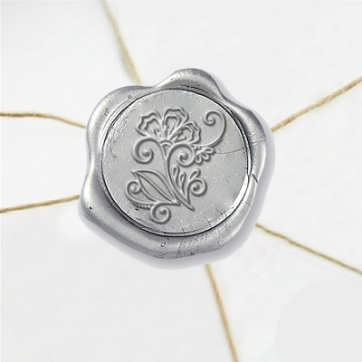 Art Deco Flowers Wax Seal Stickers-50 Stickers-50PK- 1""